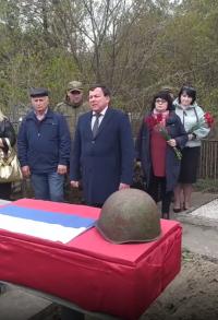 В Моздокском районе перезахоронили останки красноармейца Михаила Бабиева